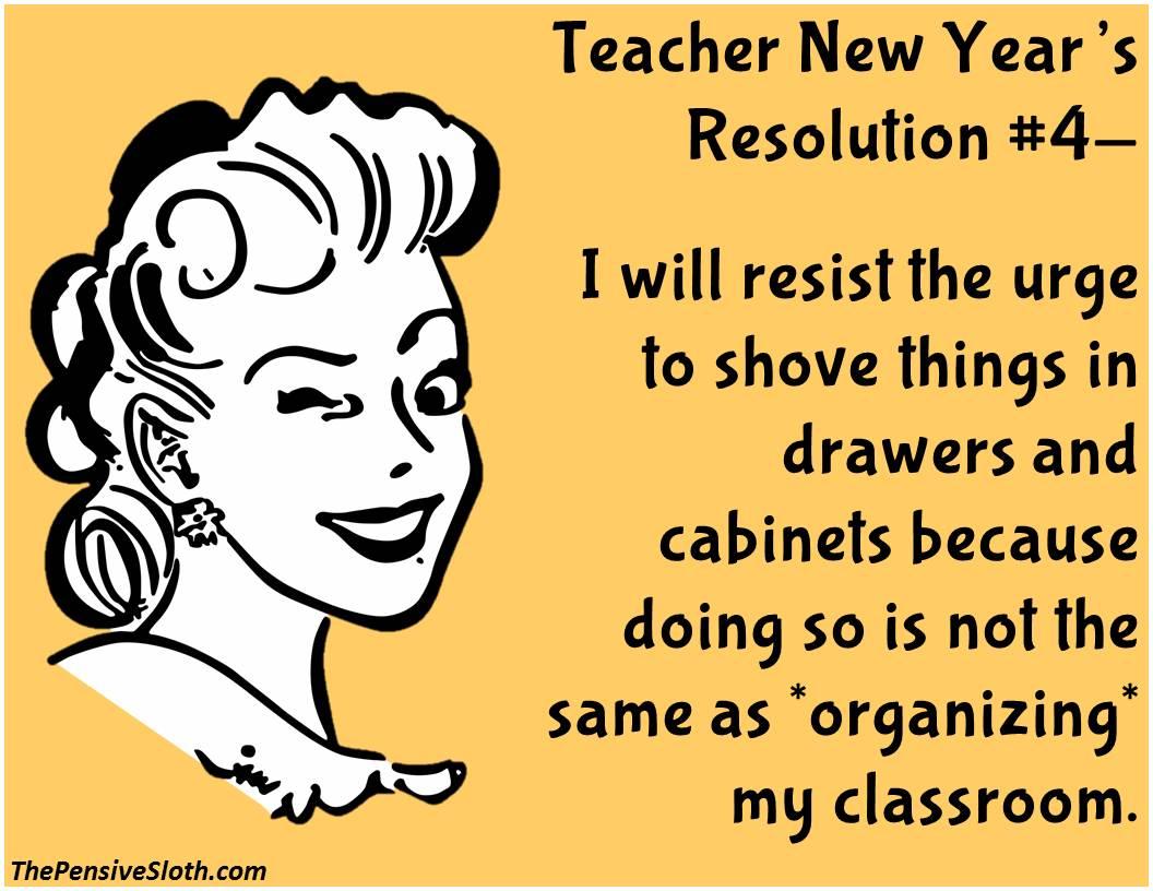Teacher New Year S Resolutions Version