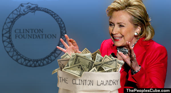 Image result for Photos of the Clintons sitting on a pile of money