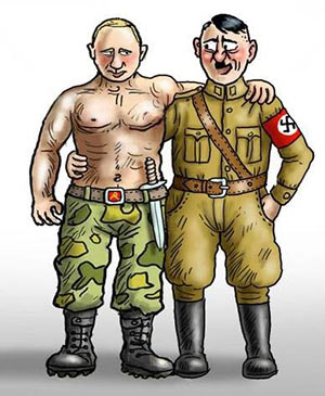 Putin and Hitler buddies