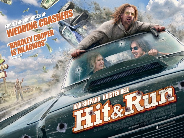 UK Trailer And Poster For Hit And Run Starring Bradley Cooper,Kristen Bell