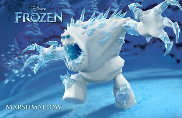 """FROZEN"" (Pictured) MARSHMALLOW. ©2013 Disney. All Rights Reserved."