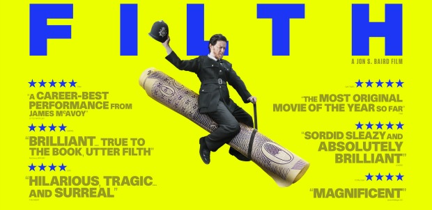 James McAvoy Is Rding The Whiskey Bottle In New Filth Posters