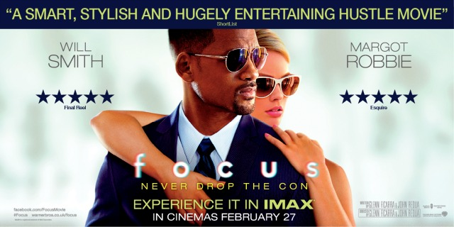 Win IMAX Tickets To See Focus Starring Will Smith, Margot Robbie