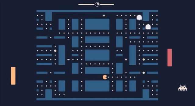 Let's Play Pacapong Aka Pacman, Ping Pong And Space Invaders