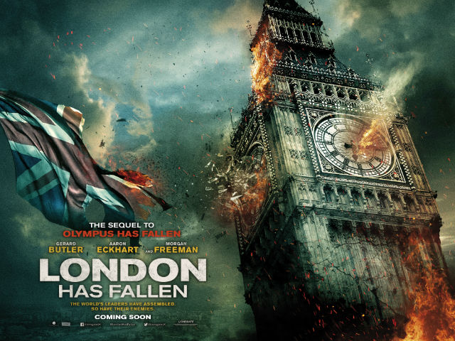 London Burns In London Has Fallen Teaser Posters