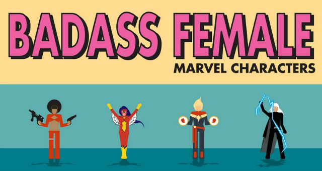 Infographic – Most Badass Female Marvel Characters