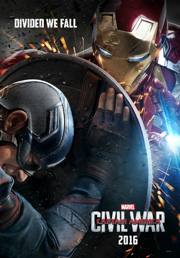 captain america  civil war action poster