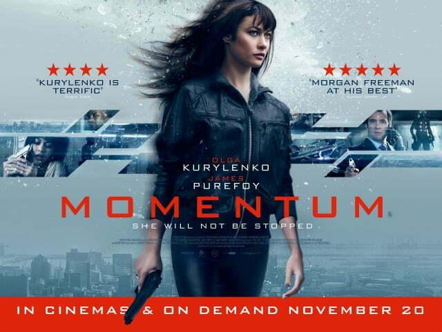 Win Momentum Film Posters Starring Olga Kurylenko