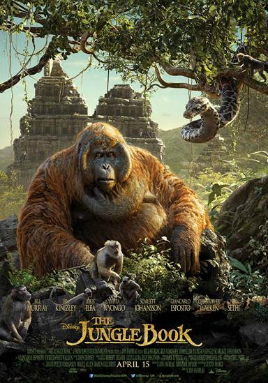 Say Hello To King Louie And Kaa In The  Jungle Book Triptych Poster