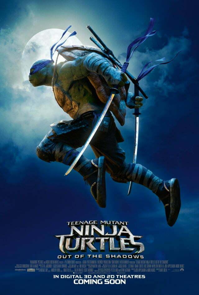 Teenage Mutant ninja turtles out of the shadows MOON poster