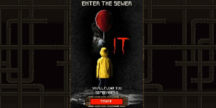 'It' Even Floats On 8-Bit, Play IT Sewer Game And Face Pennywise
