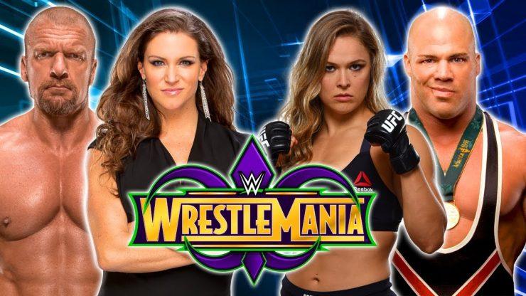 Wrestlemania 34 Preview: Kurt Angle & Ronda Rousey VS Triple H & Stephanie McMahon