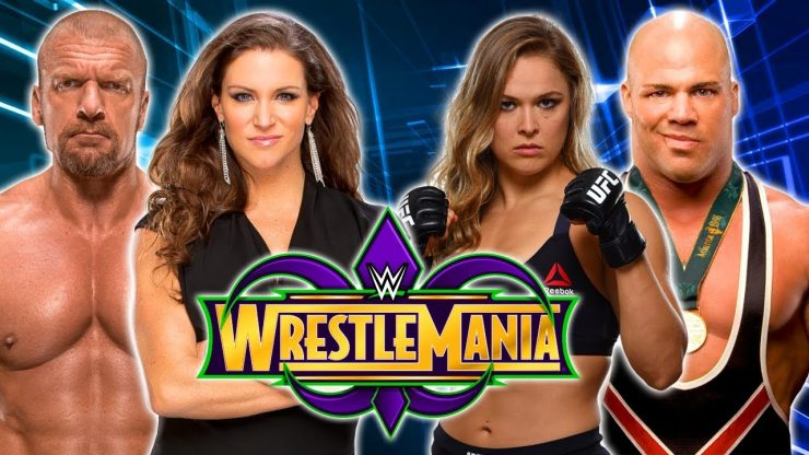 Wrestlemania 34 Preview: Kurt Angle & Ronda Rousey VS Triple H & Stephanie McMahon