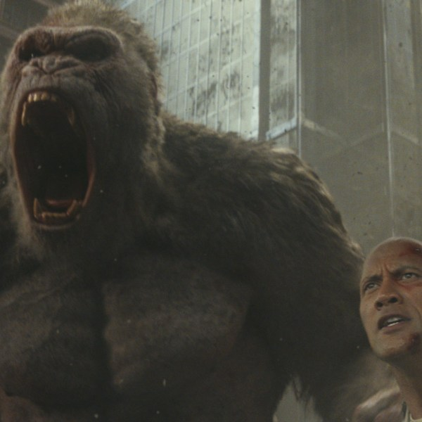 RAMPAGE Dwayne The Rock Johnson & MONKEY movies
