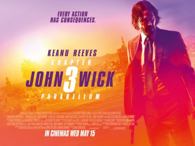 Win some awesome JOHN WICK: CHAPTER 3 – PARABELLUM merch!