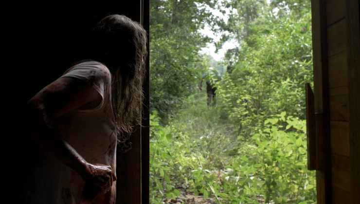"""""""It's Her!"""" Watch The UK Trailer For FrightFest Bound The Dark Red"""