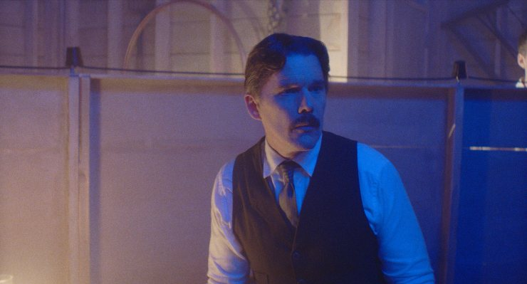 Sparks Fly In The UK Trailer For Telsa Starring Ethan Hawke