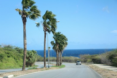 Driving back to Willemstad