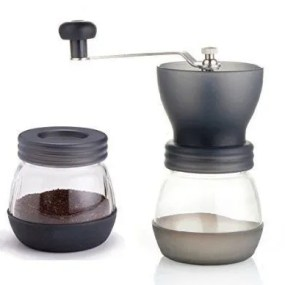 Home Treats ® Coffee Grinder, Hand Coffee Mill With Adjustable Burr