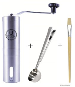 Stainless Steel Manual Coffee Bean Grinder with Hand Crank Mill