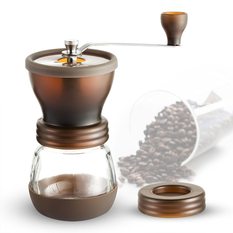 Coolife Coffee Grinders Burr Hand Coffee Grinder Coffee Mill
