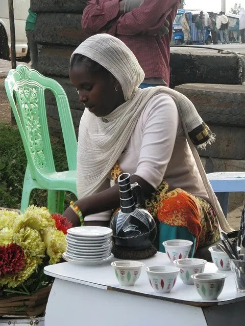 making coffee in Ethiopia Africa