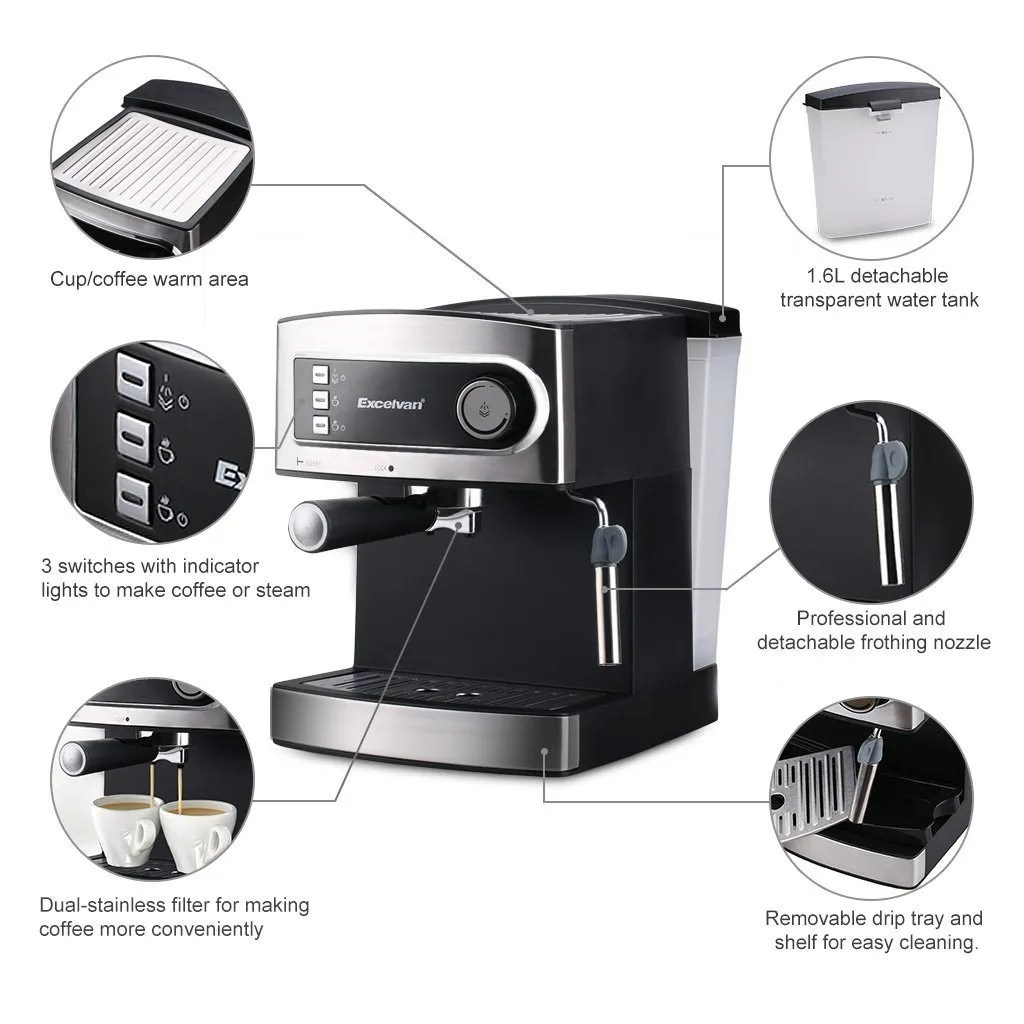 Excelvan 15 Bar Coffee Machine