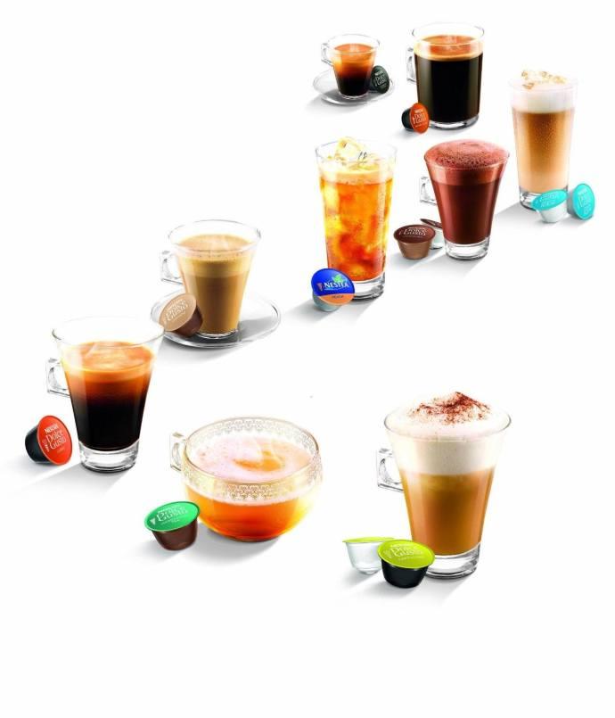 Range of coffee drinks