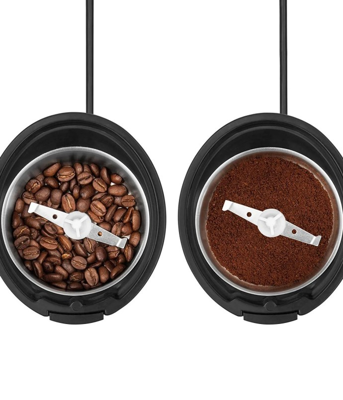 Savisto Electric Coffee Grinder before and after
