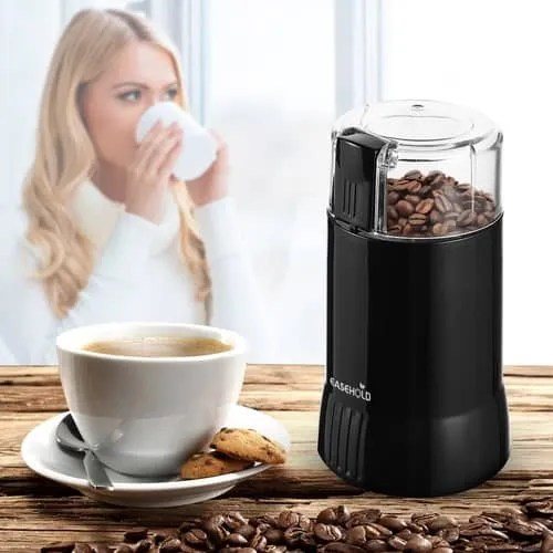 EASEHOLD 200W Electric Whole Coffee Grinder Black