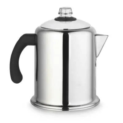 Lakeland Retro Stainless Steel Stovetop Coffee Percolator