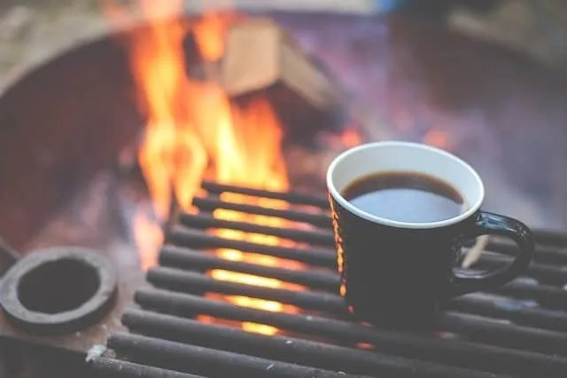How to make coffee outdoors