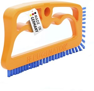 Fuginator Tile Joint Brush Orange/Blue– Innovative Grout Brush for Cleaning Joints in Bathroom, Kitchen & Household