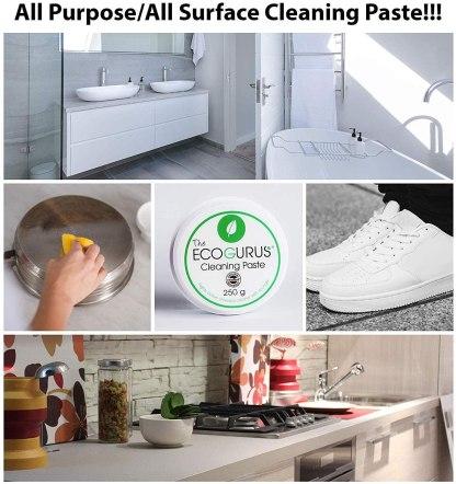 The EcoGurus - Highest Strength Natural Cleaner & Sponge! - Clean Your Kitchen Cooker, Pots, Pans, Oven, Cooktop, Stove, Bathroom, Faucets, Shower, Tiles, Toilet, Lime, BBQ, etc…