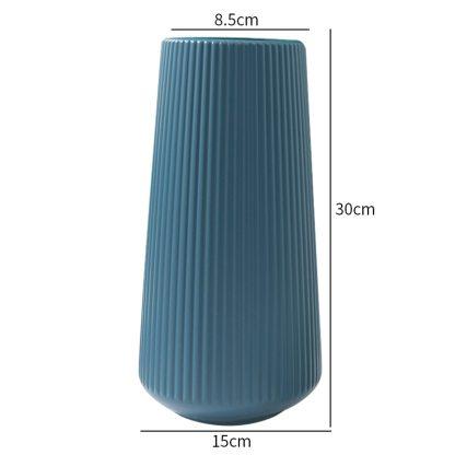 Hot Sale Vases for Decoration Home Plastic Vase White/Blue Flower Basket Arrangement Living Room Modern Style Simple Artistical