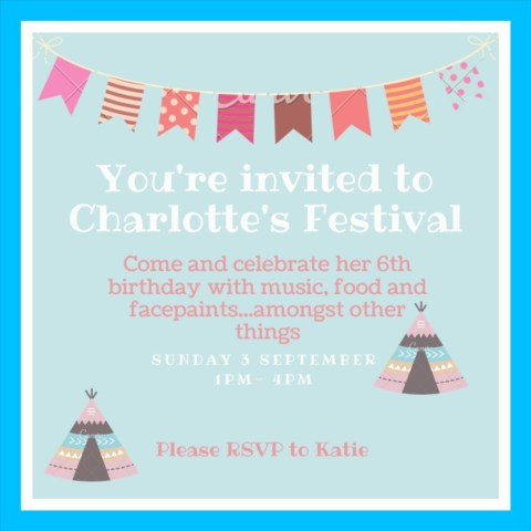 Festival Theme Birthday Party Invitation