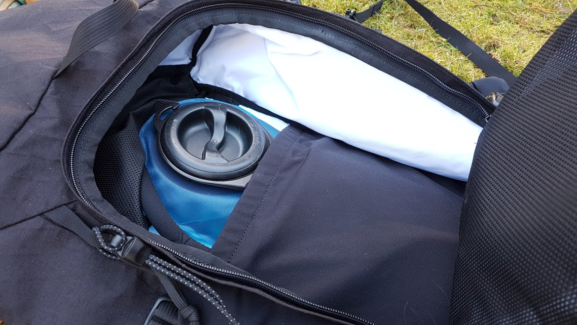 Remote Equipment Alpha 31 Backpack laptop and hydration section