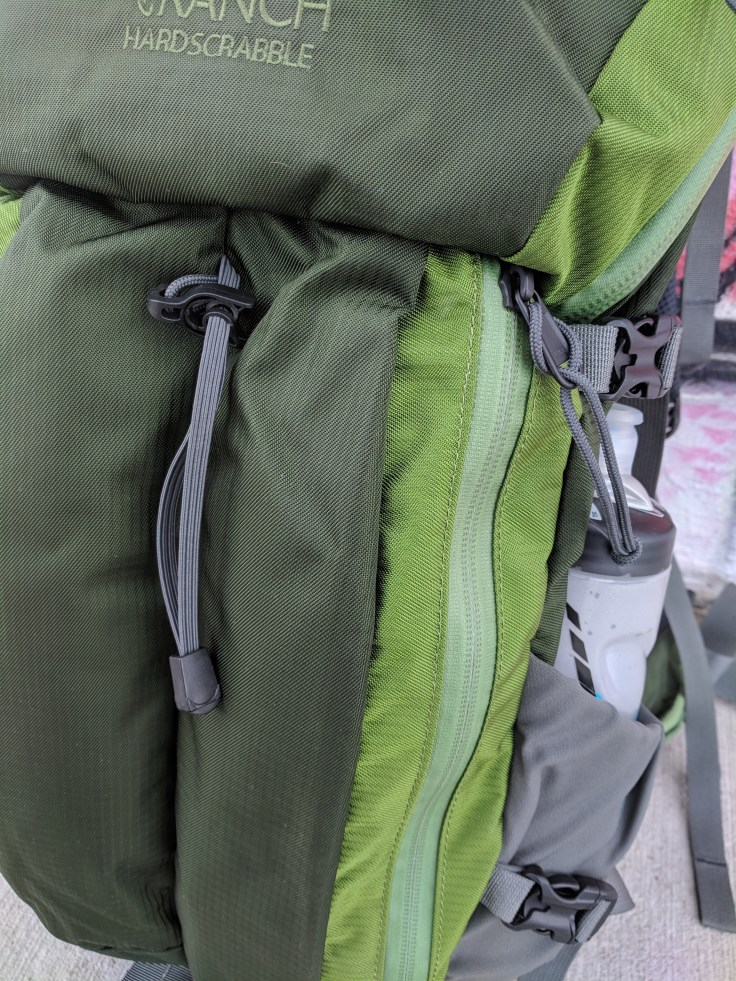 Mystery Ranch Hardscrabble review fabric and zippers