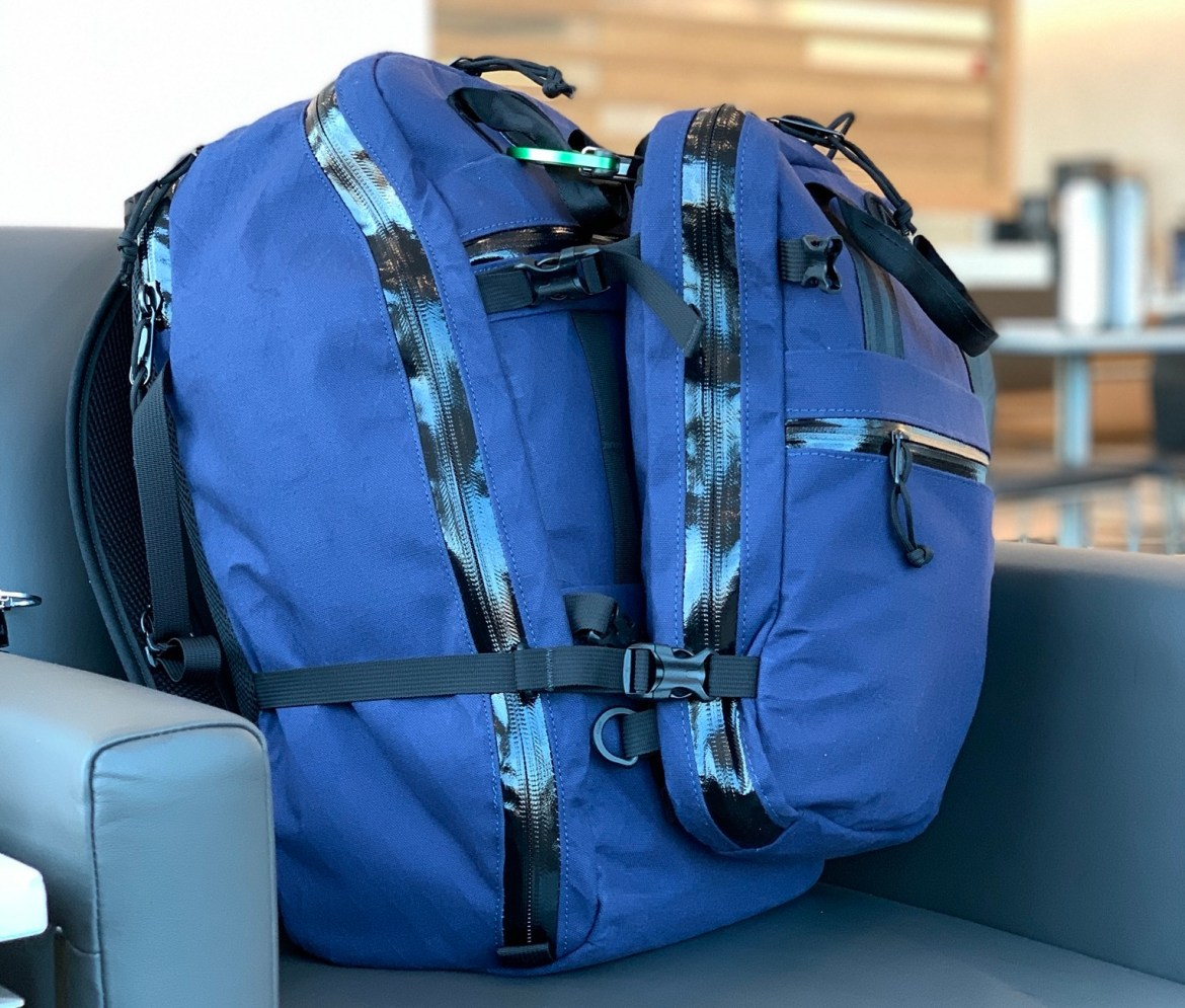 North St Bags Weekender meeting bag attached