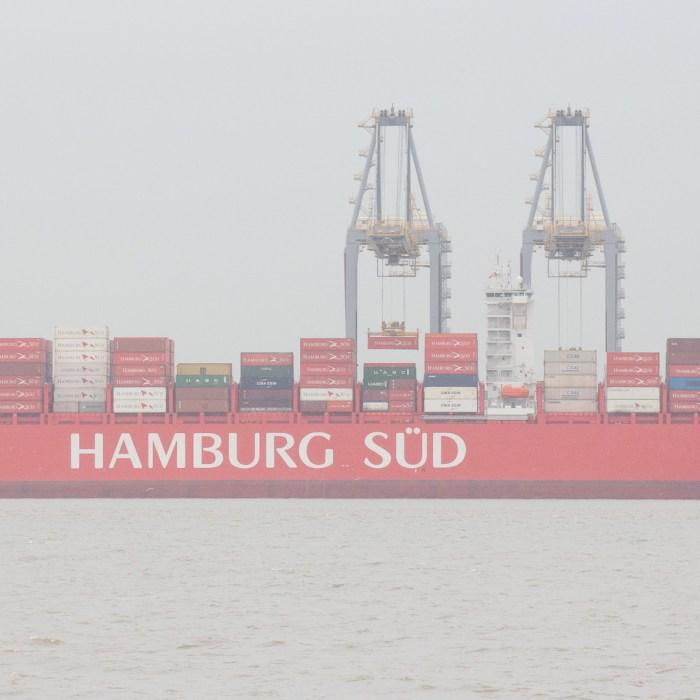 Hamburg Süd Container ship unloading at London Gateway Port