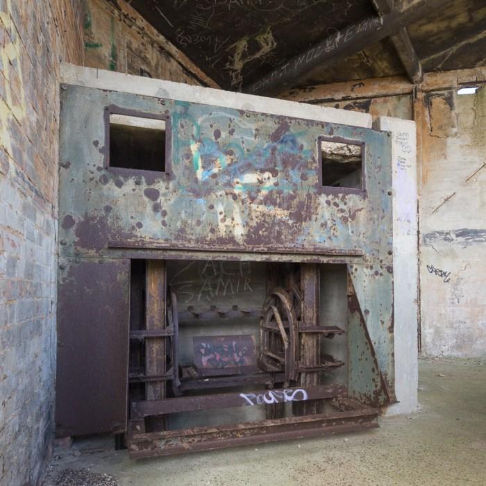 Grain Tower Battery VII. Shell lift, upper level.