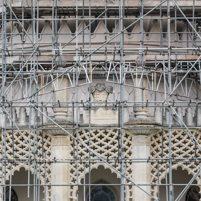 Royal Pavilion with scaffolding, Brighton.