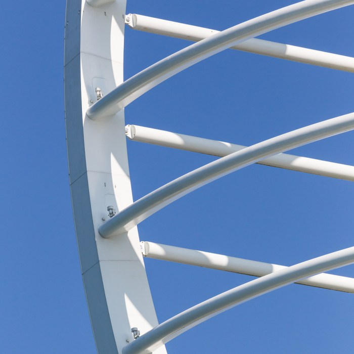 Emirates Spinnaker Tower, detail, Portsmouth, Hampshire.