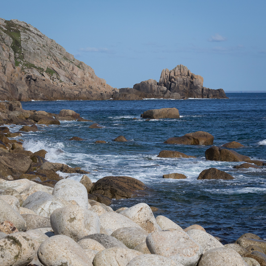 Boscawen Point from St Loy's Cove, Cornwall.