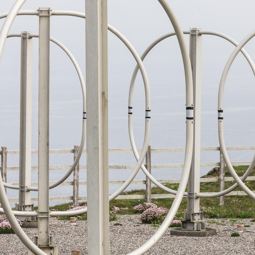 Penhale Sands Receiving Station, HF loop antenna, Cornwall.