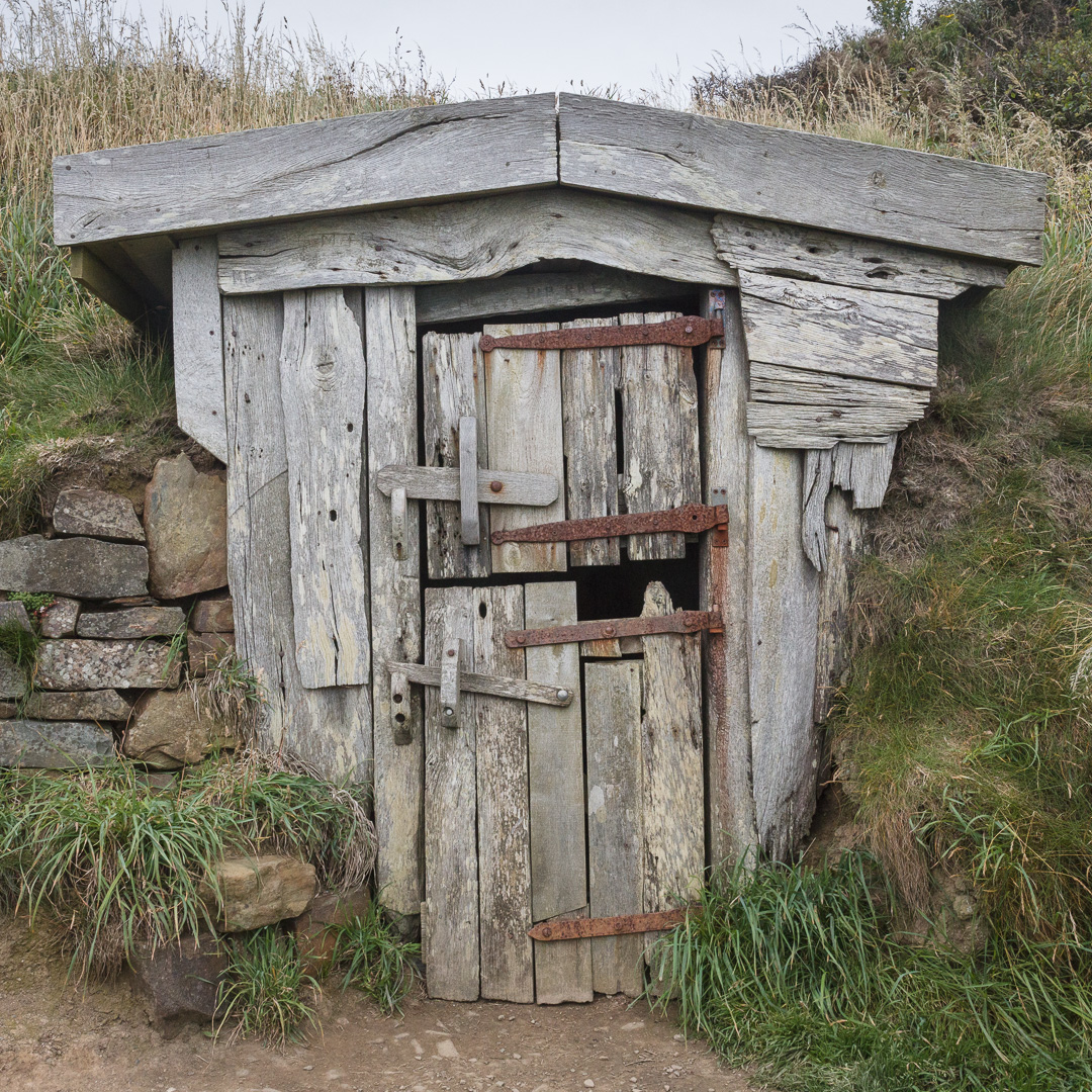 Hawker's Hut, where clergyman Robert Stephen Hawker (1803 – 1875) spent many hours writing poems and smoking opium, Cornwall.