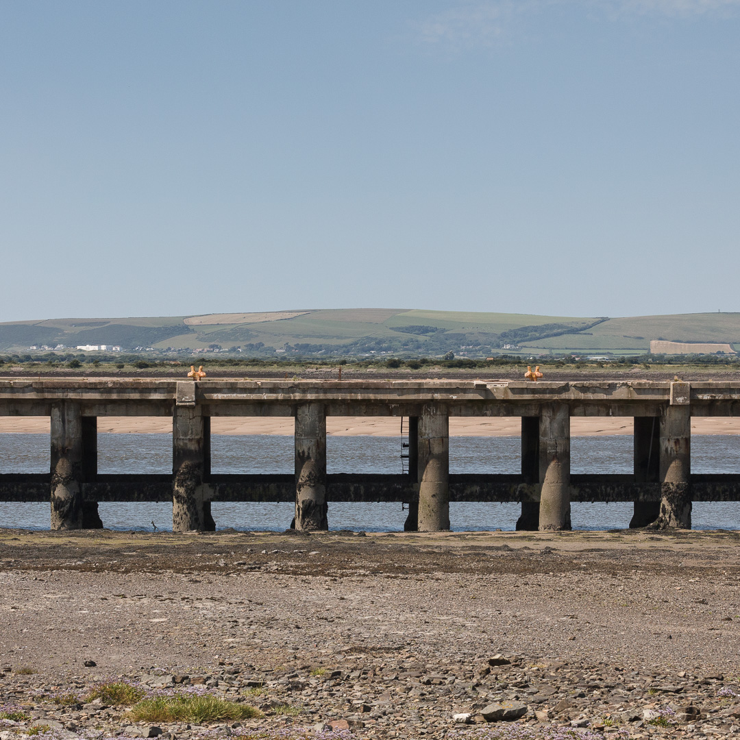 Coal jetty for the former East Yelland power station, Devon