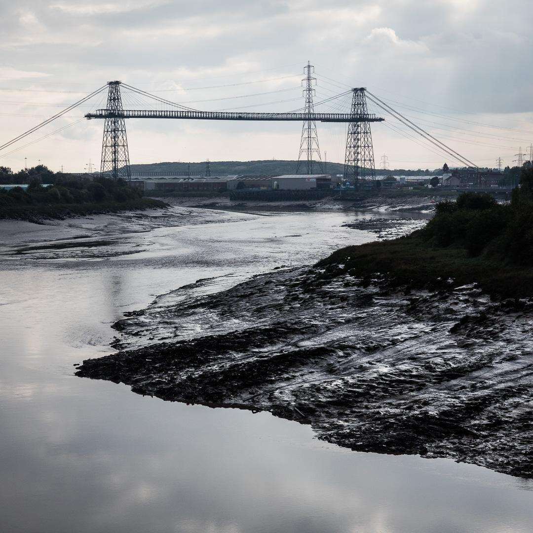 Newport Transporter Bridge, River Usk, Newport, Gwent.