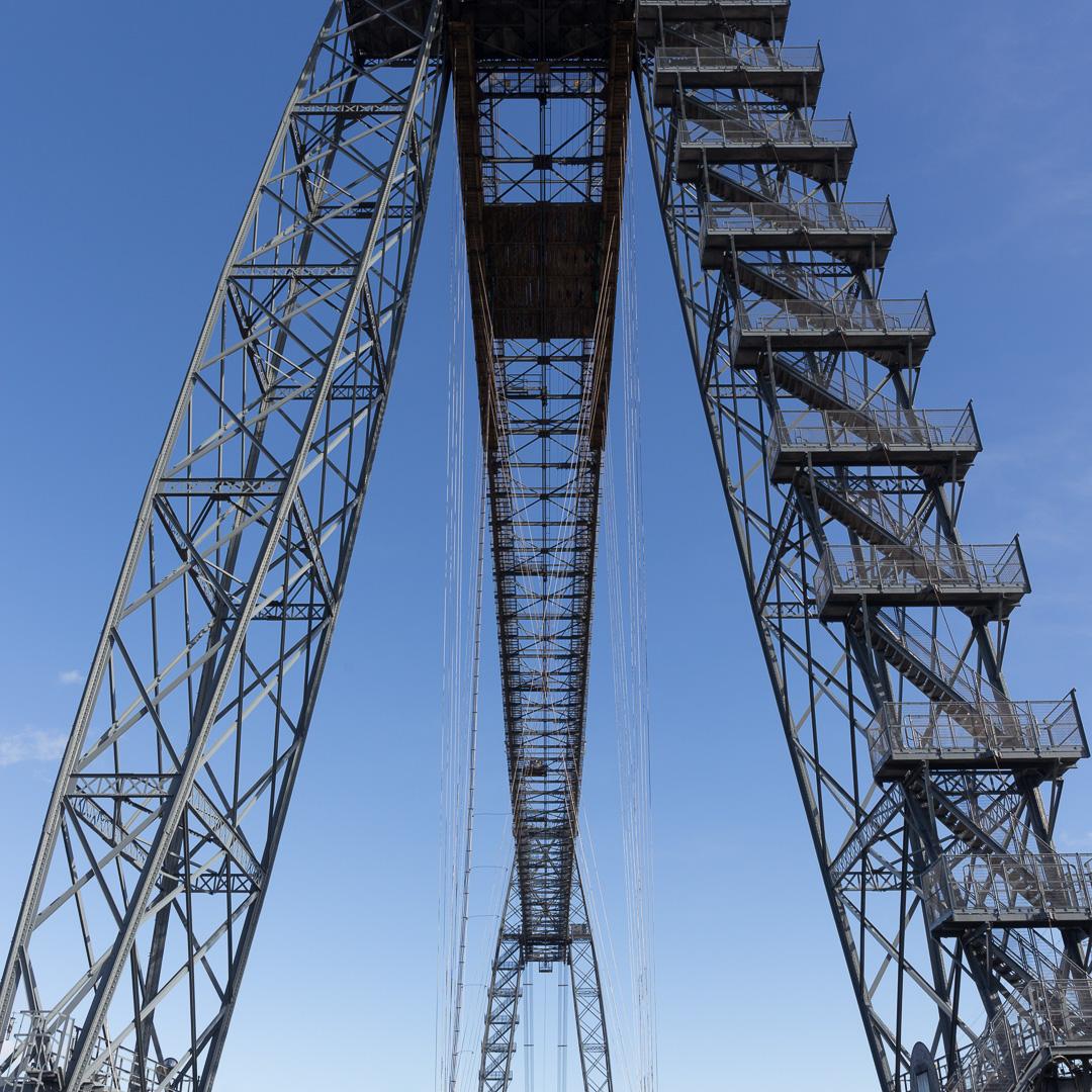 Newport Transporter Bridge, designed by engineer Ferdinand Arnodin built in 1906, Gwent.