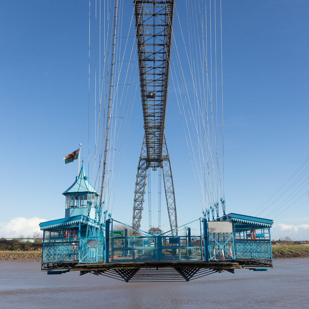 Gondola, Newport Transporter Bridge, River Usk, Gwent.